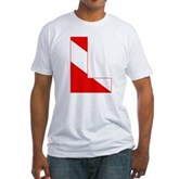 Scuba Flag Letter L Fitted T-Shirt