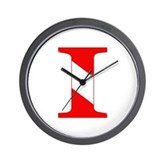 Scuba Flag Letter I Wall Clock