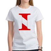 Scuba Flag Letter I Women's T-Shirt