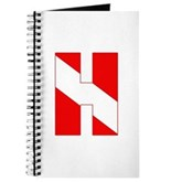 Scuba Flag Letter H Journal