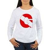 Scuba Flag Letter G Women's Long Sleeve T-Shirt