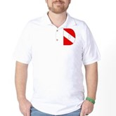 Scuba Flag Letter D Golf Shirt