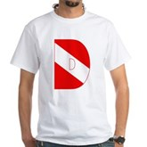 Scuba Flag Letter D White T-Shirt