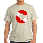Scuba Flag Letter C Light T-Shirt