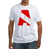 Scuba Flag Letter A Fitted T-Shirt