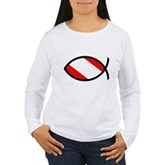 Scuba Flag Ichthys Women's Long Sleeve T-Shirt