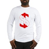 Scuba Flag Dollar Sign Long Sleeve T-Shirt