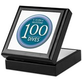 100 Dives Milestone Keepsake Box