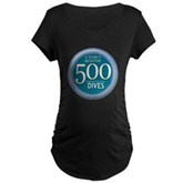 500 Dives Milestone Maternity Dark T-Shirt