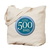 500 Dives Milestone Tote Bag
