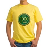 1000 Dives Milestone Yellow T-Shirt