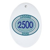 2500 Logged Dives Oval Ornament