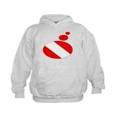 Thought Bubble Dive Flag Kids Hoodie