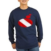Thought Bubble Dive Flag Long Sleeve Dark T-Shirt