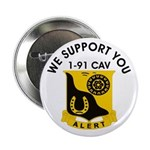 "1-91 Cavalry 2.25"" Button"