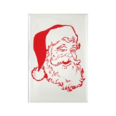 Santa Clip Art Rectangle Magnet