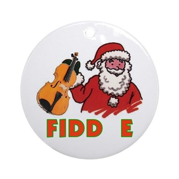 Noel Fiddle Christmas Ornament