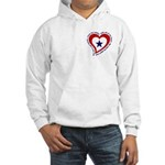Heart Service Flag - Soldier Hooded Sweatshirt