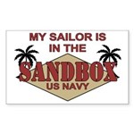 Sailor Sandbox US Navy Sticker (Rectangular)