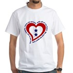 2 Star Service Flag - Airmen White T-Shirt