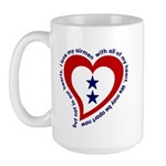 2 Star Service Flag - Airmen Large Mug