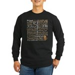 Shakespeare Insults T-shirts & Gifts Long Sleeve Dark T-Shirt