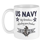 Navy Grandson defending Mug