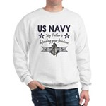 Navy Father Defending Sweatshirt