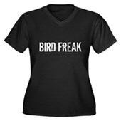 Bird Freak Women's Plus Size V-Neck Dark T-Shirt