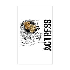 Actress Alchemy of Acting Sticker (Rectangle)