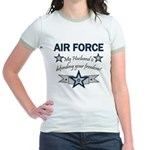 Husband Defending Freedom AF Jr. Ringer T-Shirt