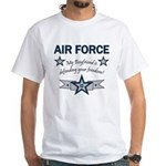 Air Force Boyfriend freedom White T-Shirt