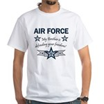 Air Force Brother defending White T-Shirt