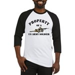 Property US Army Soldier Military Baseball Jersey