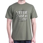 Never Trust A Skinny Chef Dark T-Shirt