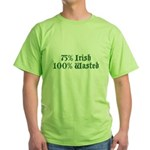 75% Irish 100% Wasted Green T-Shirt