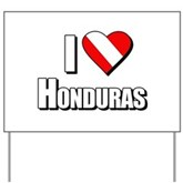  Scuba: I Love Honduras Yard Sign