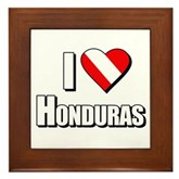  Scuba: I Love Honduras Framed Tile