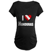  Scuba: I Love Honduras Maternity Dark T-Shirt