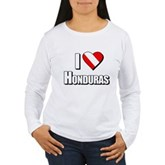 Scuba: I Love Honduras Women's Long Sleeve T-Shirt