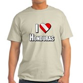 Scuba: I Love Honduras Light T-Shirt