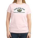 Land of the Free, Airman Women's Pink T-Shirt