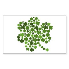 Lucky Irish Shamrock Sticker (Rectangle)