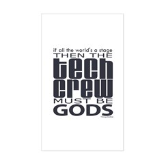 Tech Crew Gods  Sticker (Rectangle)