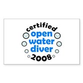 Open Water Diver 2008 Rectangle Sticker