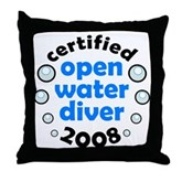 Open Water Diver 2008 Throw Pillow
