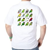 16 Birdorable Parrots Golf Shirt