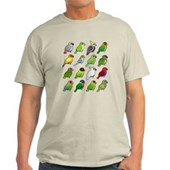 16 Birdorable Parrots Light T-Shirt