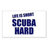 Scuba Hard Rectangle Sticker