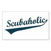 Scubaholic Rectangle Sticker